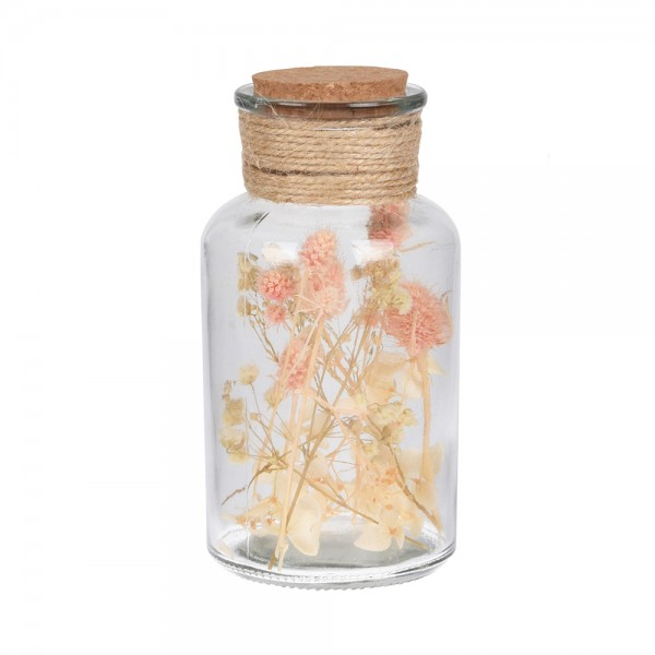 FLOWER IN GLASS BOTTLE MIXED DESIGN 540730-V001 by EH Excellent Houseware