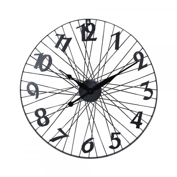 WALL CLOCK BICYCLE WHEEL 540732-V001 by EH Excellent Houseware