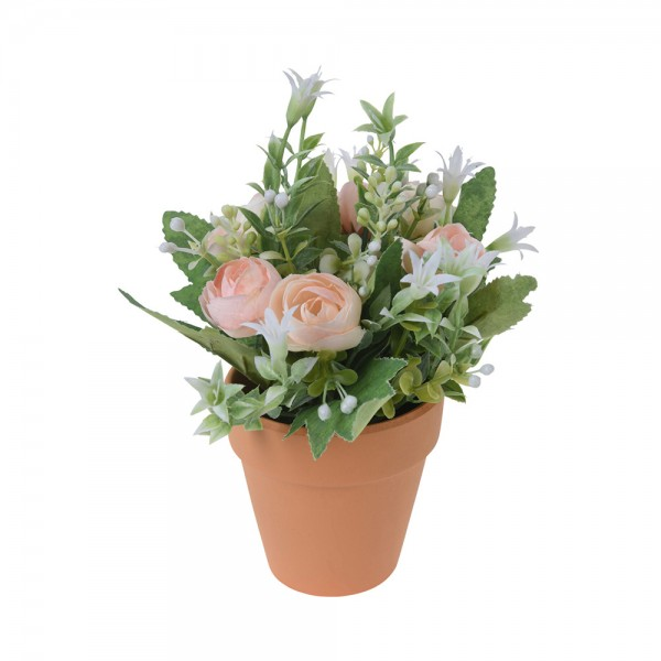 ROSE PLANT IN POT MIXED DESIGN 540734-V001 by EH Excellent Houseware