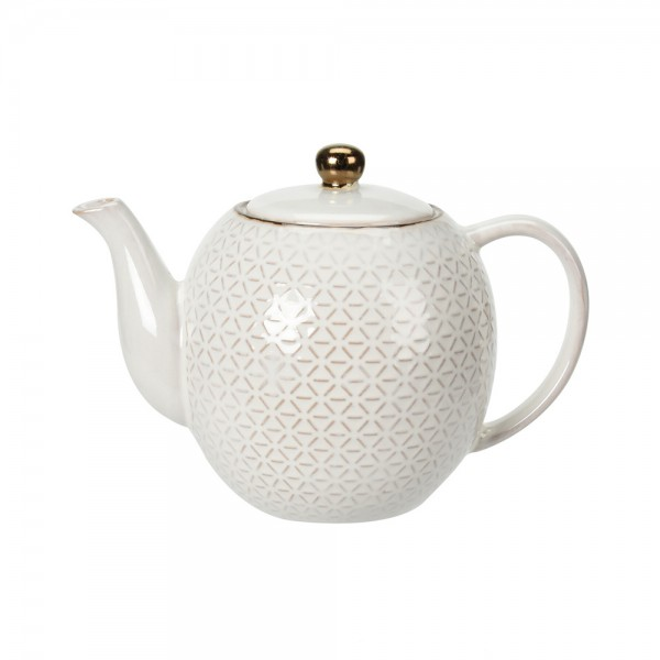 TEAPOT STONEWARE MIXED DESIGN 540736-V001 by EH Excellent Houseware