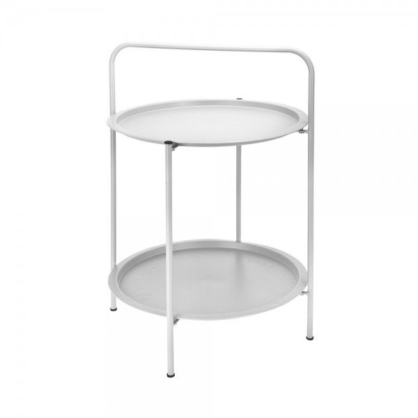 ROUND TABLE MATT GREY 2 TIERS 540741-V001 by EH Excellent Houseware