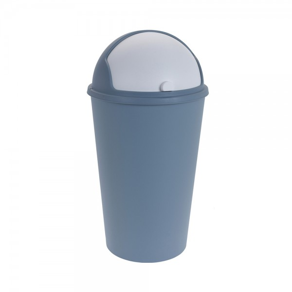 TRASH BIN PLASTIC MIXED COLOR 540744-V001 by EH Excellent Houseware