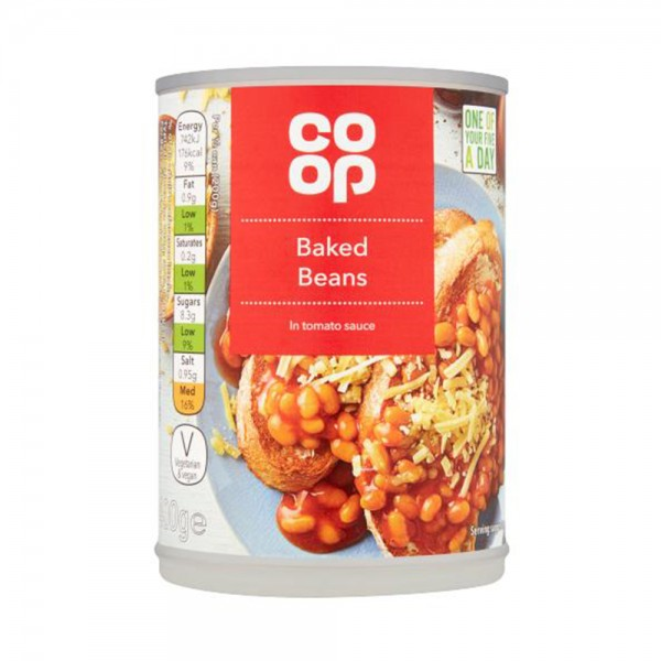BAKED BEANS IN TOMATO SAUCE 540813-V001 by Co op