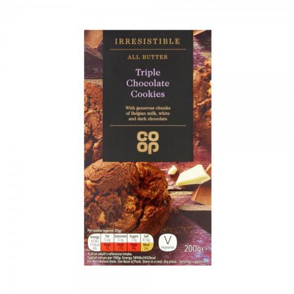 IRRESISTIBLE TRIPLE CHOC COOKIES 540826-V001 by Co op