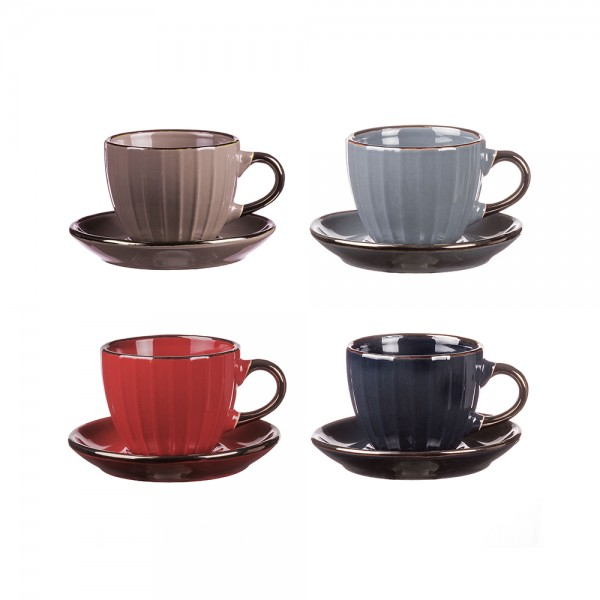 CERAMIC COFFEE SET MIXED COLOR 541015-V001 by Adtrend.it