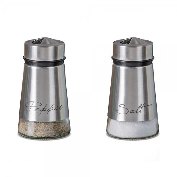 GLASS +STAINLESS SALT PEPPER 541105-V001 by Adtrend.it