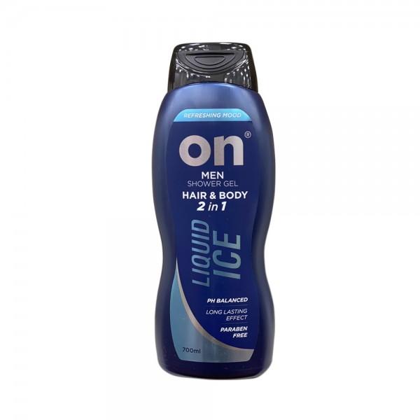 SHOWER GEL MEN 2IN1 HAIR+BODY LIQUID ICE 542888-V001 by ON
