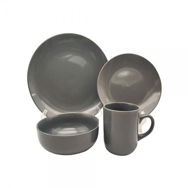 STONEWARE DINNER SET DARK GREY OR IVORY 542932-V001 by ETN