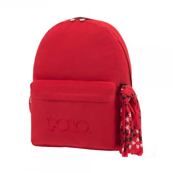SCHOOL BAG WITH SCARF RED 543446-V001 by Polo