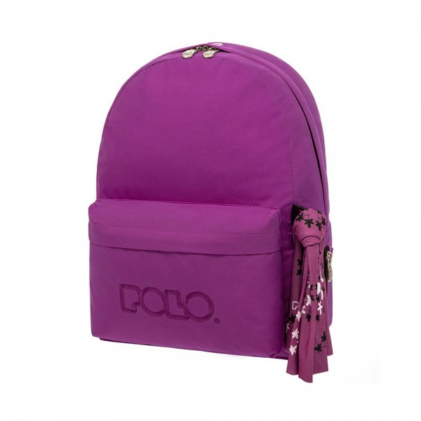 SCHOOL BAG WITH SCARF VIOLET 543449-V001 by Polo