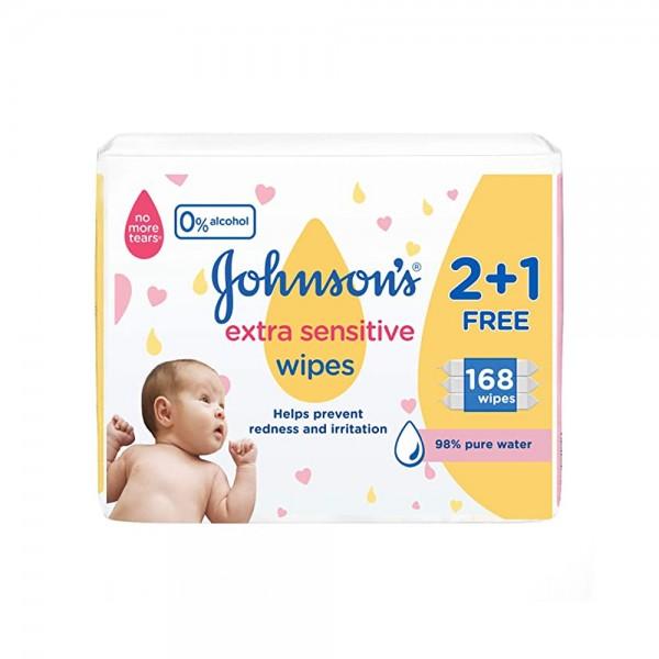 BABY EXTRA SENSITIVE WIPES 2+1 168 Wipes 543866-V002 by Johnson & Johnson