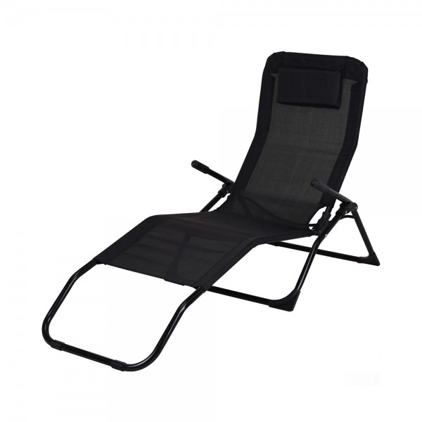 SIESTA LOUNGER BLACK 544211-V001 by EH Excellent Houseware