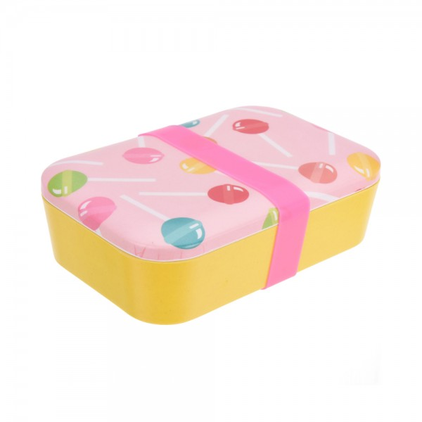 LUNCH BOX BAMBOO/MELAMINE 6ASSRTD 544285-V001 by EH Excellent Houseware