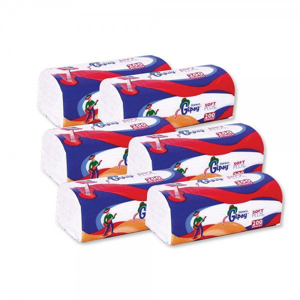 Gipsy Soft Facial Tissue +1Free - 200S 348130-V014 by Sanita