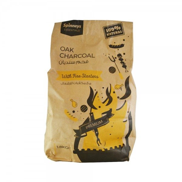 Spinneys Charcoal Oak Bag With Starter 1.8 Kg 487148-V001 by Spinneys Supreme