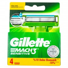 Gillette Mach3 Razor Blades 4 Pieces 345541-V001