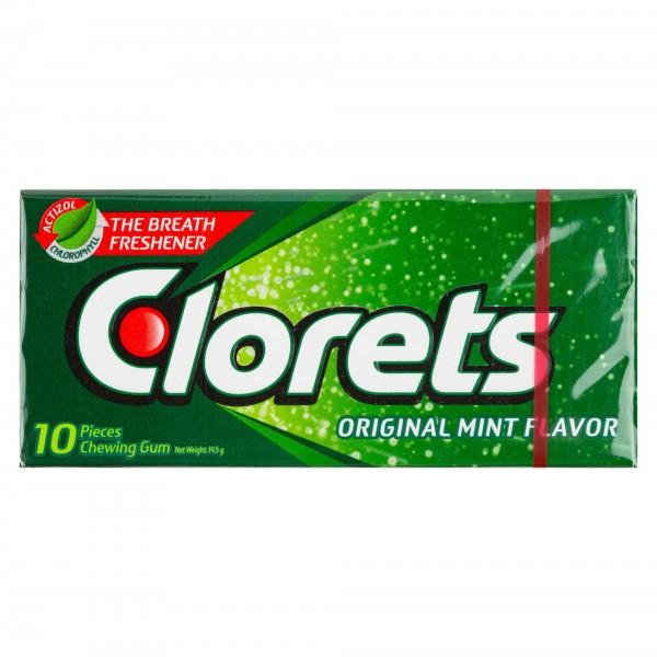 Clorets Original Mint Flavor Chewing Gum 12 Pieces