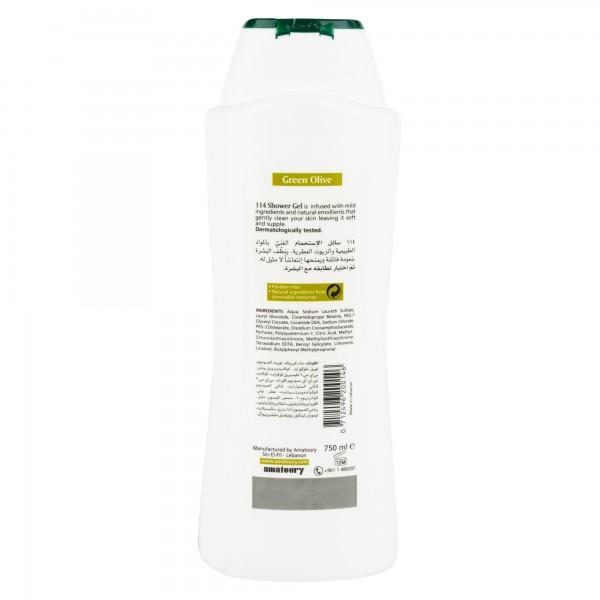 Amatoury 114 Shower Gel Green Olive 750Ml