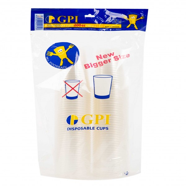 Gpi Plastic Cup Clear Pp180 180Cc - 100S