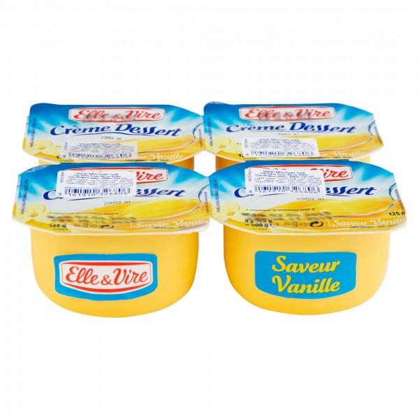 Elle Et Vire Crã¨Me Dessert Vanille 125G
