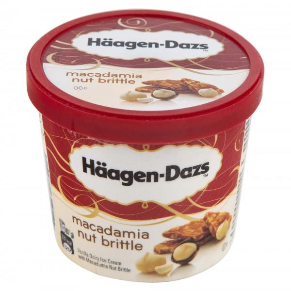 Haagen Dazs Macadamia Nut Brittle Ice Cream Mini Cup 100Ml