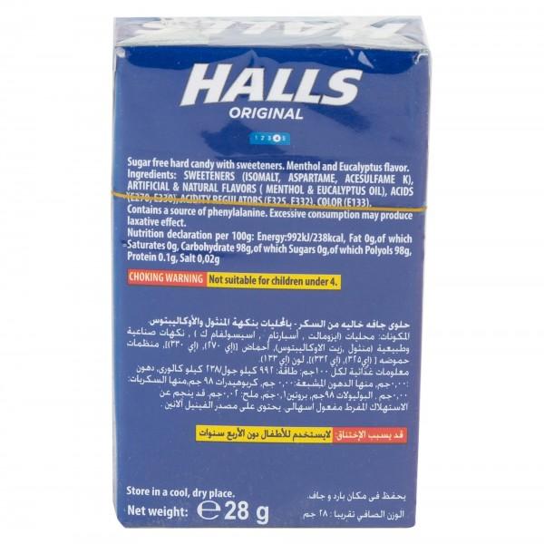 Halls Sugar Free Original Menthol Cough Drops 15 Pieces