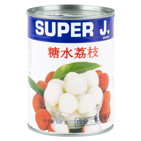 Super J. Lychees In Syrup 560ml