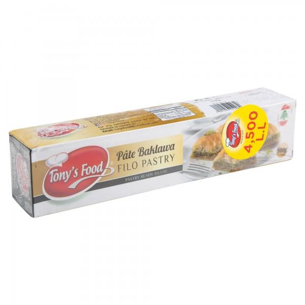 Tony's Food Pate Baklawa Filo Pastry Frozen 500G