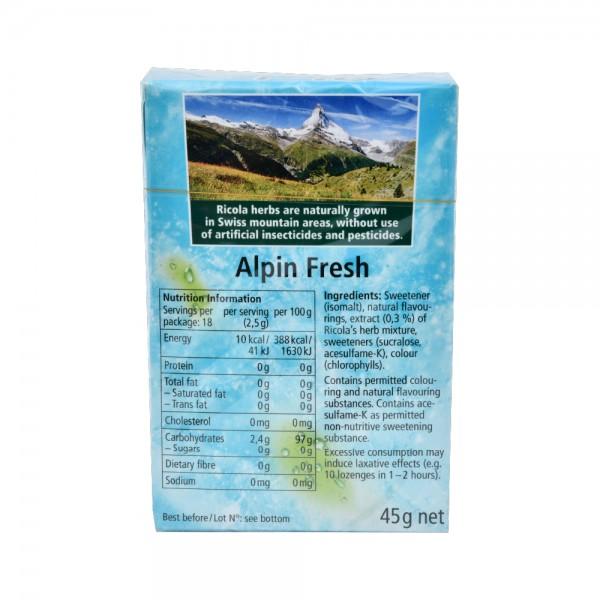 Ricola Alpin Frsh Sf Soothing Refresh - 50G