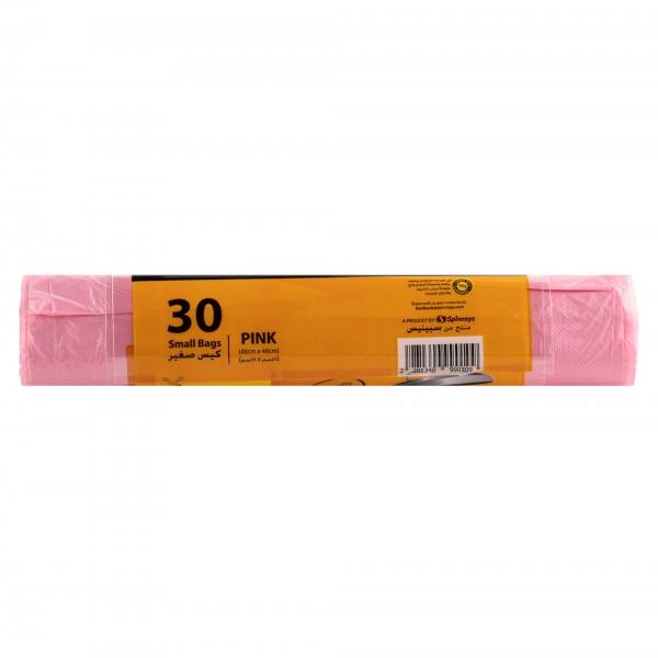Spinneys Trash Bags Small Pink 30 sacks