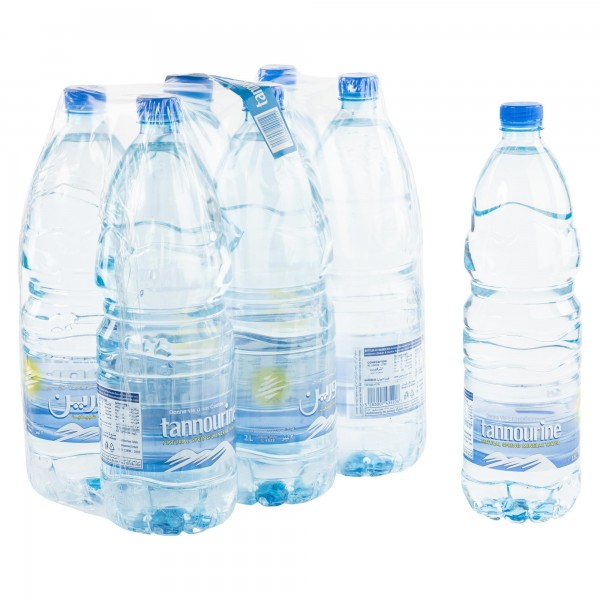 Tannourine Natural Spring Mineral Water 6x2L