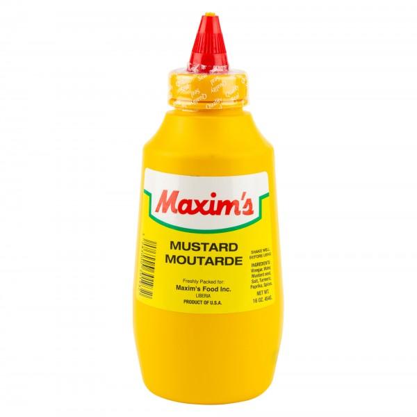 Maxim's Squeeze Mustard Bottle 16oz