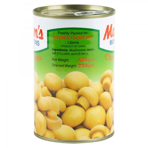 Maxim's Mushrooms Whole Tin Canned 390G