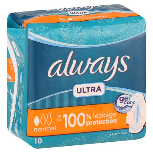 Always Ultra Thin Normal Pads With Wings 10'S
