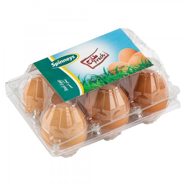Spinneys Brown Eggs 6 per pack