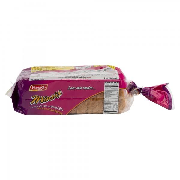 Pain D'Or Minoix Le Pain De Mie Multicereales Sliced Bread  510G