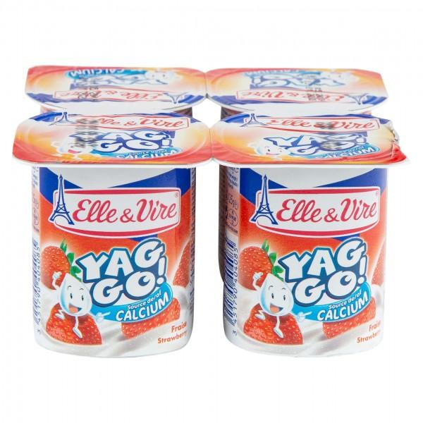 Elle & Vire Yag Go Dessert Lacte Fraise 125G