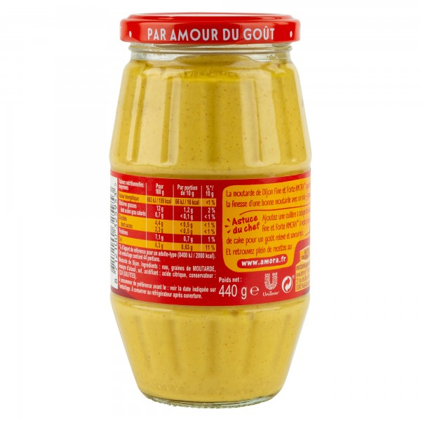 Amora Moutarde De Dijon Fine & Forte 440G