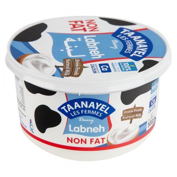 Taanayel Les Fermes Labneh Non Fat 500G