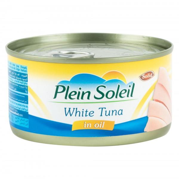 Plein Soleil White Tuna In Vegetable Oil Canned 185G