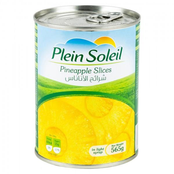 Plein Soleil Sliced Pineapple Canned 565G