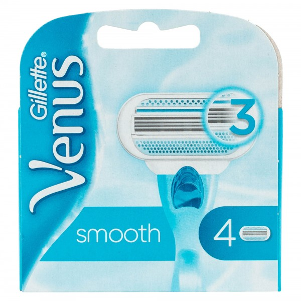 Gillette Venus Smooth 3-Blade Refill Heads 4 Count