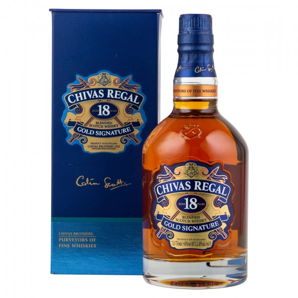 Chivas Regal Blended Scotch Whisky 18 Years 75cl