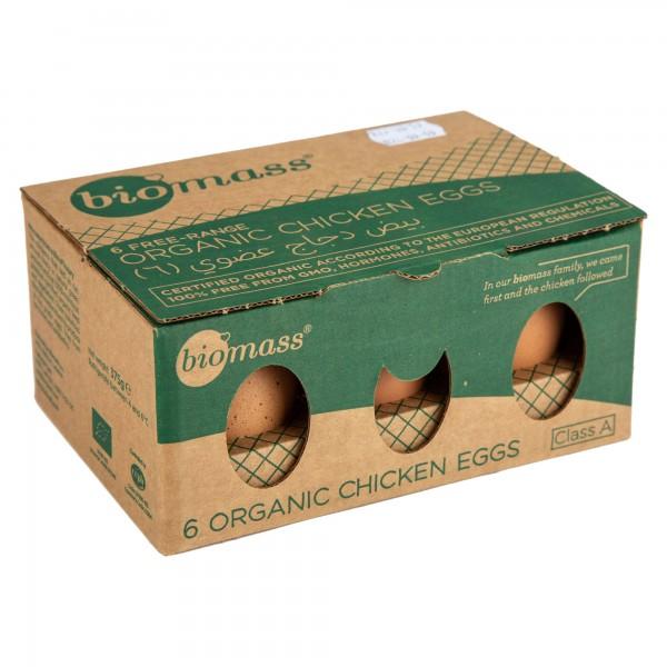 Biomass Organic Free Range Chicken Eggs 6 Pieces