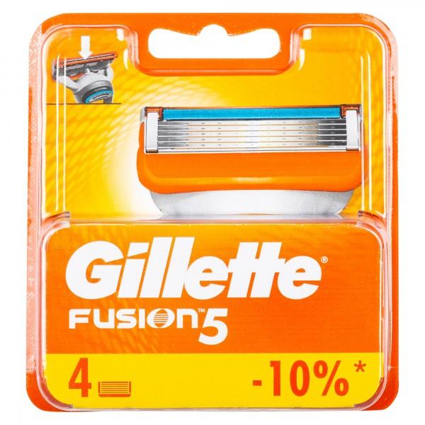 Gillette Fusion Manual Razor 4 Pieces