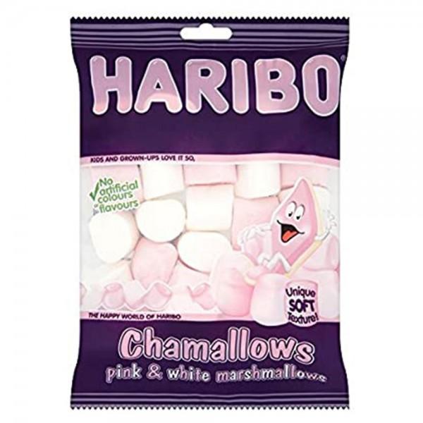 Haribo Chamallows Fat Free Pink & White Marshmallows 150G