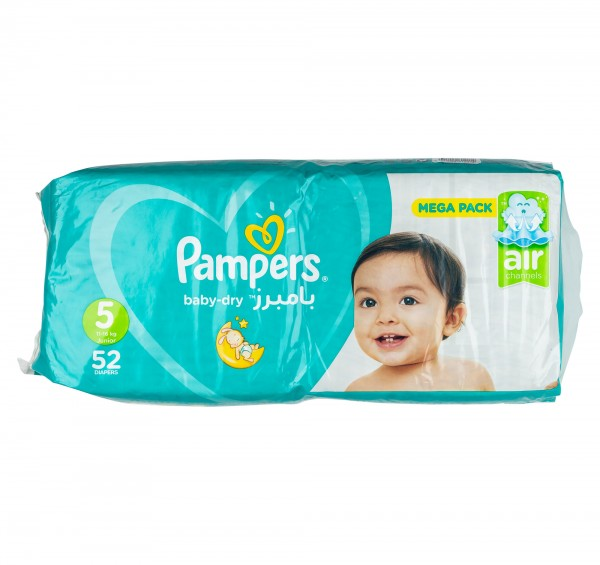 Pampers Active Baby Jumbo Pack Size 5 11-25Kg 52 Diapers