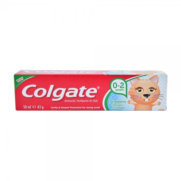 Colgate Kids AntiCavity Fluoride Gel Strawberry 02 yearsToothpaste 50 ml