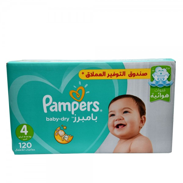 Pampers Mega Box Baby Dry Size 4 9-14Kg 120 Count