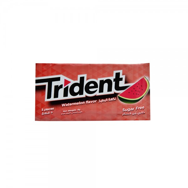 Trident Watermelon Gum - 5Pc